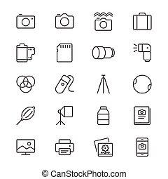 fotografia, magra, ícones