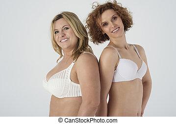 fotografia, mulheres, cintura, maduras, cima