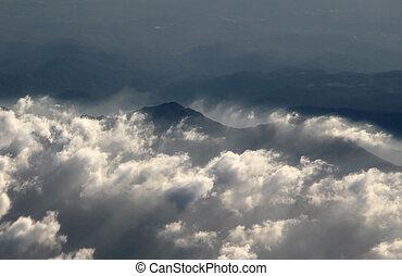 fotografia, nubi, aereo