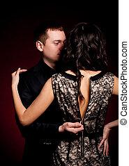 fotografia, od, człowiek i kobieta