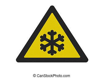 fotografia, realistyczny, 'risk, od, ice', znak, odizolowany, na białym