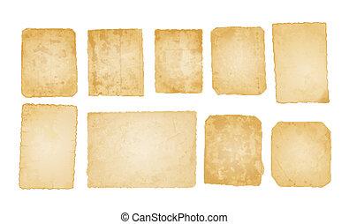 fotografia, stary, papiery