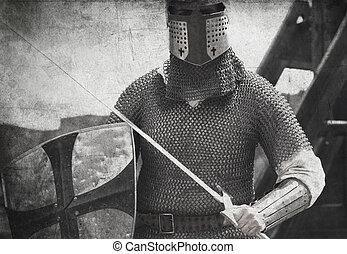 fotografia, styl, knight., rocznik wina