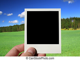 fotografia, wręczać dzierżawę, czysty