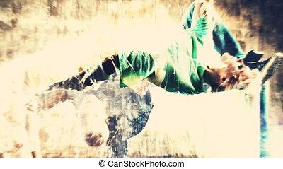 fotografie, dansers, montage.