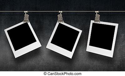 fotografie, hangend