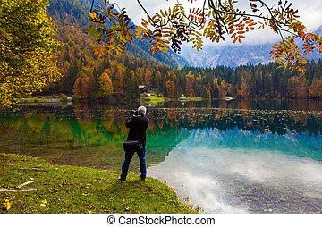 fotografie, krajobraz, człowiek