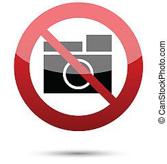 fotografie, nein, zeichen