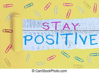 fotografie, pozdvihnout, positive., povolání, showcasing, thoughts, real., nota, dílo, utišit, zavázat se, být, showing, optimistický