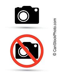 fotografie, vektor, kamera, ne, firma
