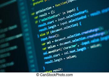 fotografier, softwaren, kode, programmering, udvikler