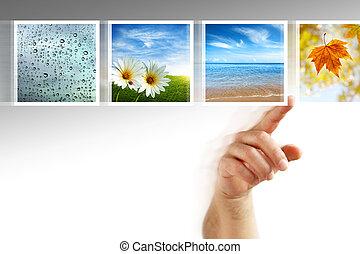 fotografier, touchscreen