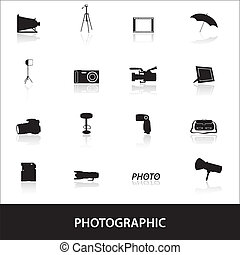 fotografisch, eps10, iconen
