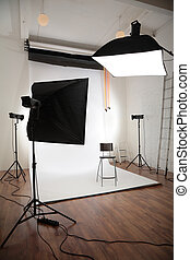 fotografisch, studio, interieur