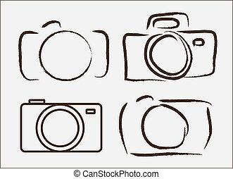 fotografisk, kamera