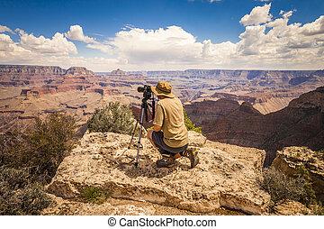 fotografo, grande, arizona, canyon