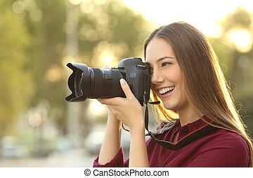 fotografo, macchina fotografica, fotografare, digitale