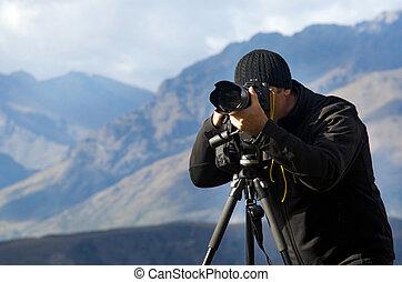 fotografo, posizione