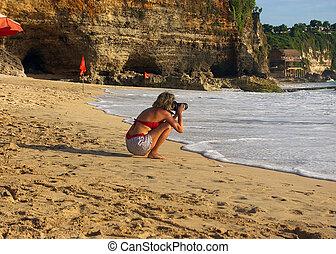 fotografo, spiaggia