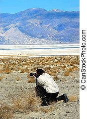 fotografo, valle morte