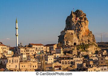 fotografování, ohromení, cappadocia, turkey., den, krajina