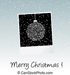 fotokader, kerstmis kaart