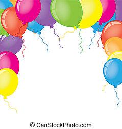 fotokader, met, ballons