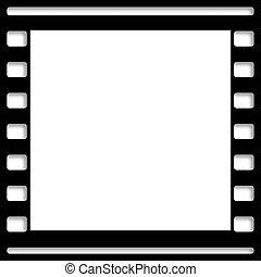 fotokader, nog, black , witte