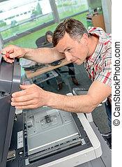 fotokopieerapparaat, repairer