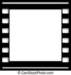fotolijst, glijd film, leeg