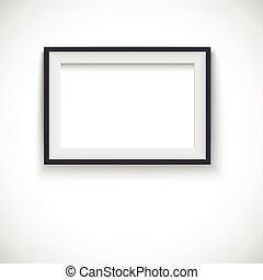 fotolijst, hout, horizontaal
