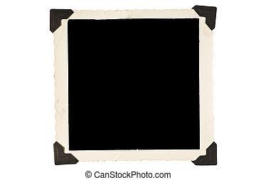 fotolijst, plein, hoeken