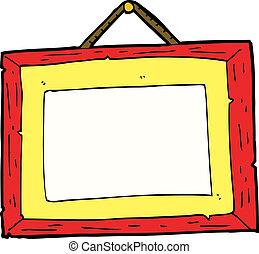 fotolijst, spotprent