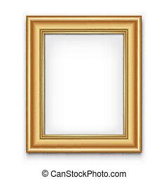 fotolijst, vector, of, foto