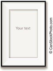 fotolijst, vrijstaand, illustratie, achtergrond., vector, witte
