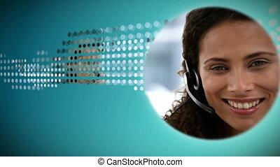 fotomontaggio, di, comunicazione affari