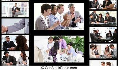 fotomontaggio, di, persone affari, in, diffe