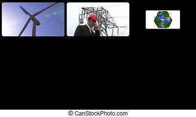 fotomontaggio, presentare, il, concetto, di, e