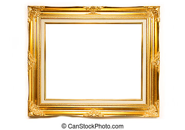 fotorahmen, luxus, gold