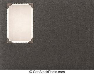fotorahmen, mit, corner., retro stil, fotoalbum, seite