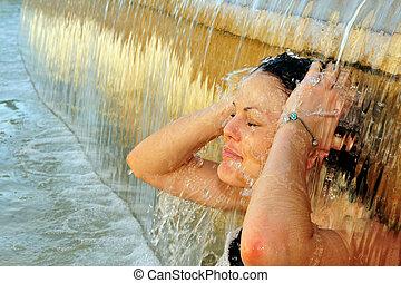 fotos, calor, tiempo, -, onda