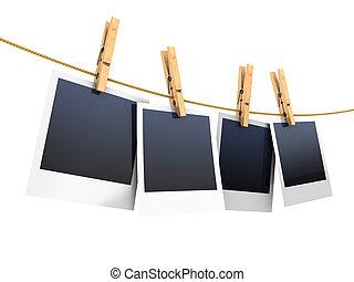 fotos, clothesline