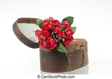 fotos, de, rosas rojas, para, valentino, day.