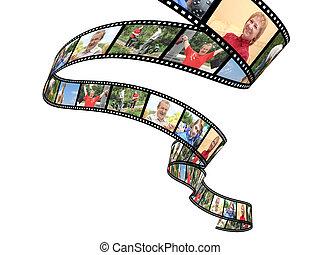 fotos, familia , filmstrip