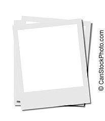 fotos, instamatic, blanco