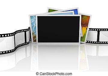 fotos, pila, película