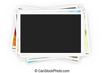 fotos, stapel