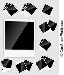 fotos, vector, instante, ilustración, blanco