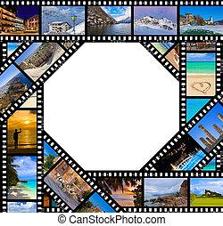 fotos, viaje, película