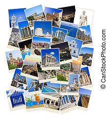 fotos, viaje, pila, grecia